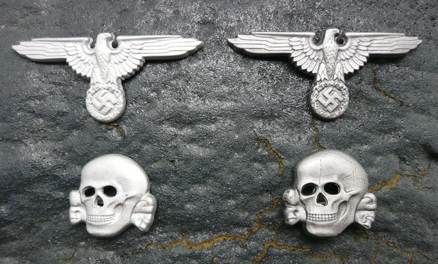 d9165ad7298 a cap set. Eagle has 3 prongs and the Skull has 2 prongs